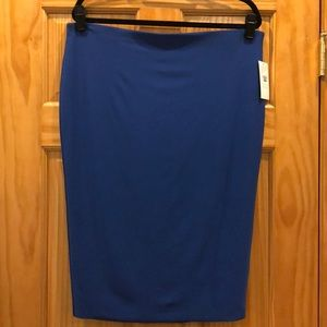 Chause Azure Blue Stretch Pull On Pencil Skirt